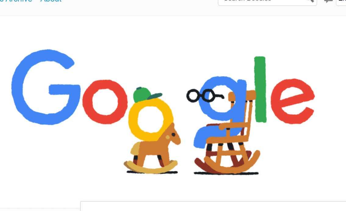 Dia da Vovó e Dia do Vovô no Google Doodle - Jogos conhecidos do Google Doodle