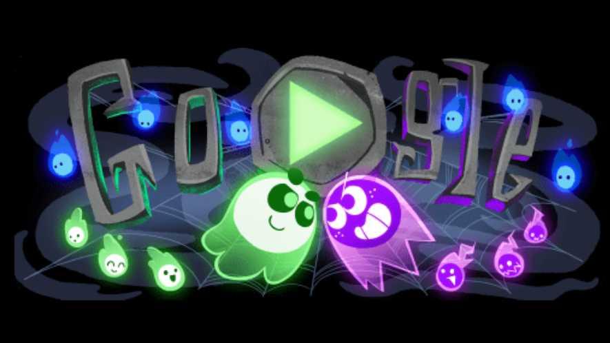 Halloween, que é um doodle assustador - Jogos conhecidos do Google Doodle