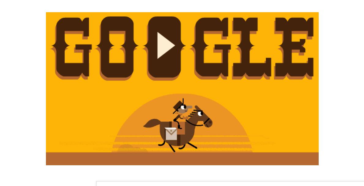 Very Wild West ou um doodle sobre Pony Express - Jogos conhecidos do Google Doodle