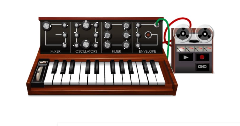 Robert Moog e seu sintetizador - Jogos conhecidos do Google Doodle