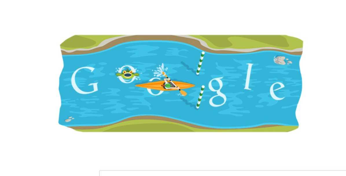 Caiaque Whitewater no Google Doodle - Jogos conhecidos do Google Doodle